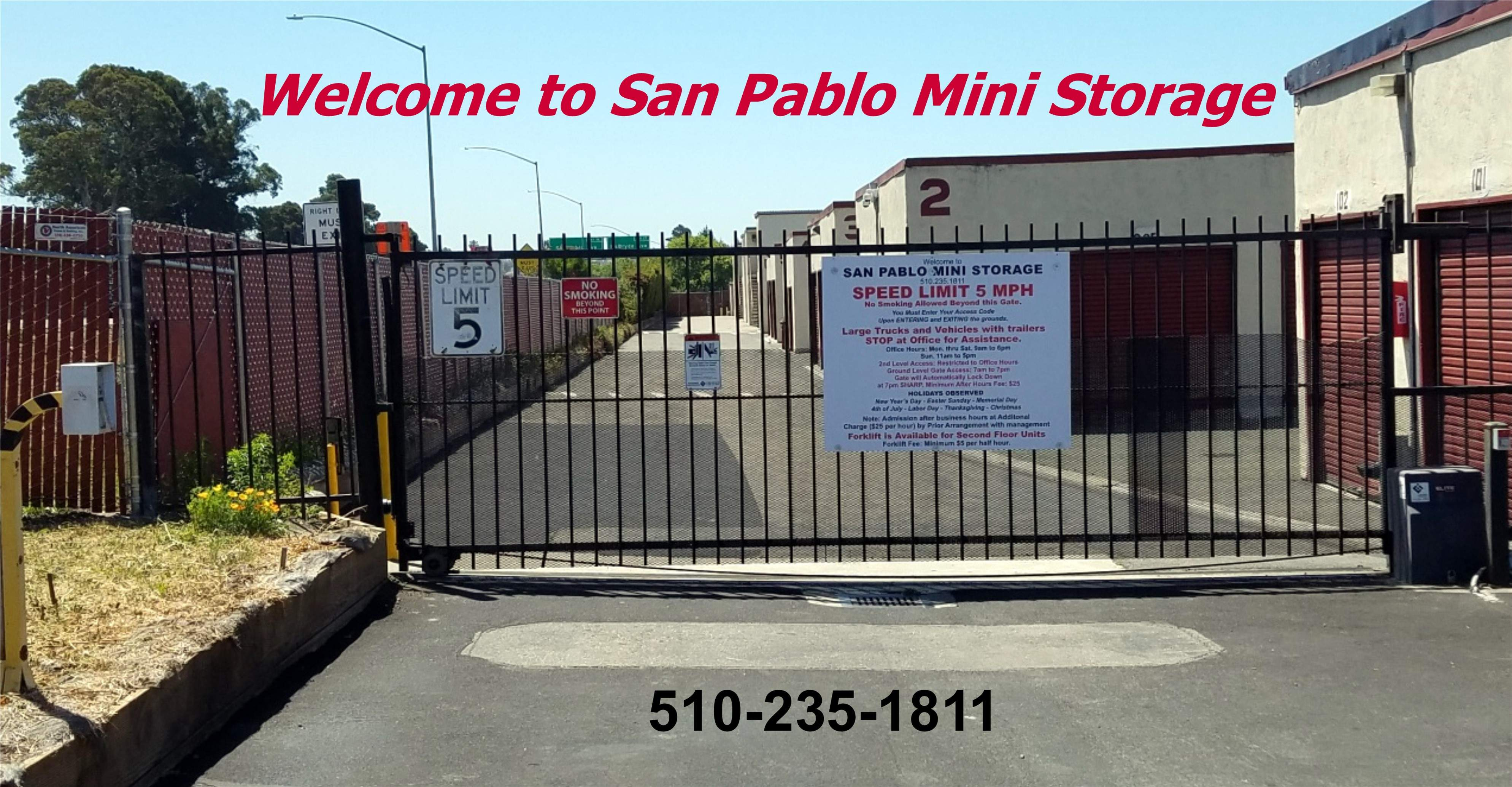 San Pablo Mini Storage Gate