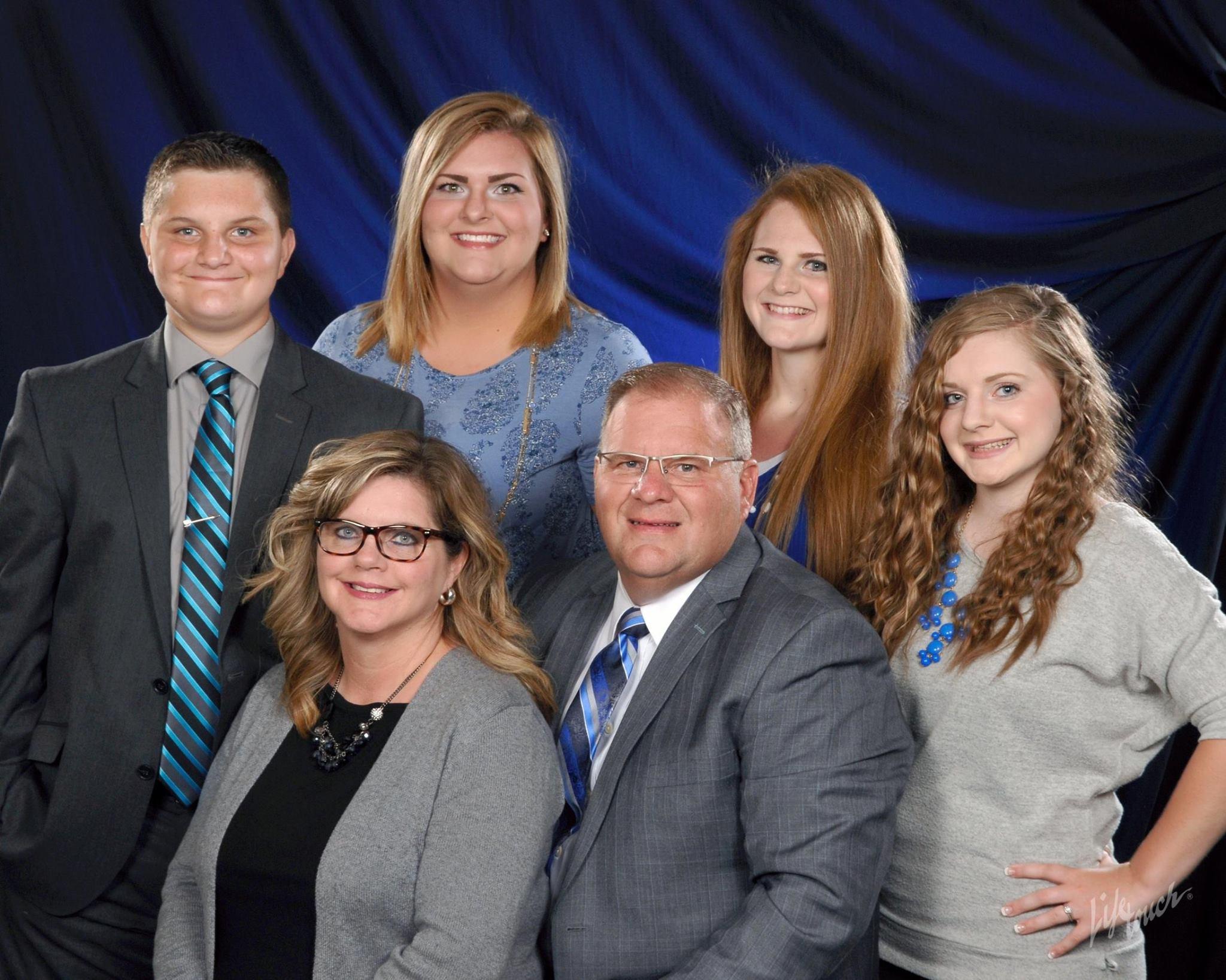 Pastor Tharp and Julie, Matthew, Rebecca, Meghan, Kristen & Gabriel