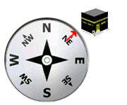 Qibla in Lafayette is at 49.49 degrees Northeast (using Magnetic North setting on smart phones) Qibla: Direction of prayer towards Mecca or shortest route around the globe.
