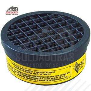 CARTUCHO ETIQUETA AMARILLA Categoría: Cartuchos Descripción: Protección contra vapores orgánicos, cloro, ácido clorhídrico, bióxido de azufre y gases ácidos, conteniendo una concentración no mayor de 1000 ppm de vapores orgánicos y gases ácidos, 10 PPM de cloro, 50 PPM de cloruro de hidrógeno y 50 ppm de bióxido de sulfuro.  Para respiradores: SIISA Normas: Certificación de Normas Oficiales Mexicanas y cumplen requerimientos NIOSH NOM-116-STPS-2009