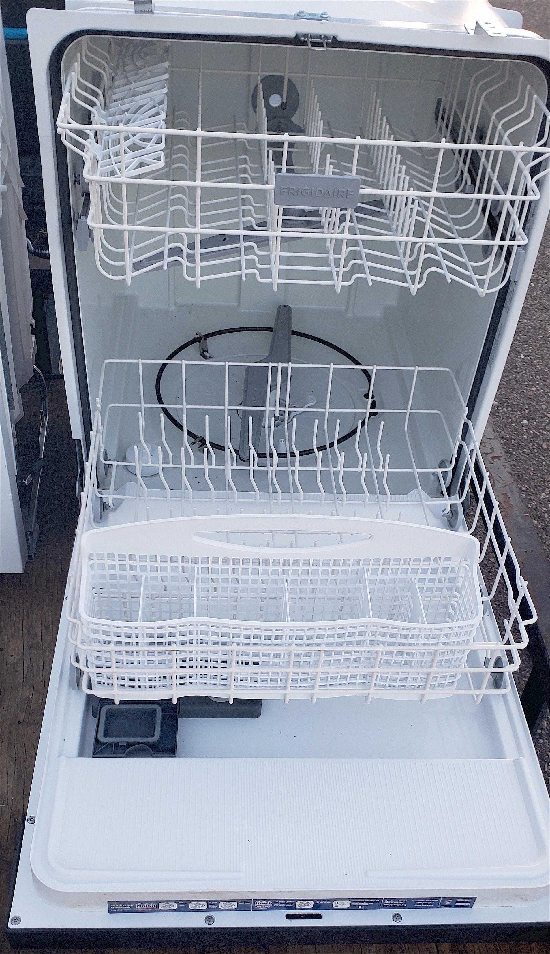 2 Black Frigidaire Dishwasher Inside