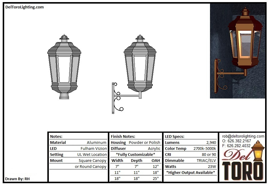 215W - Oct Fancy Lantern Wall Mount
