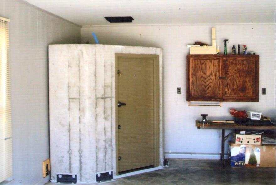 Installed In-Garage Safe Room