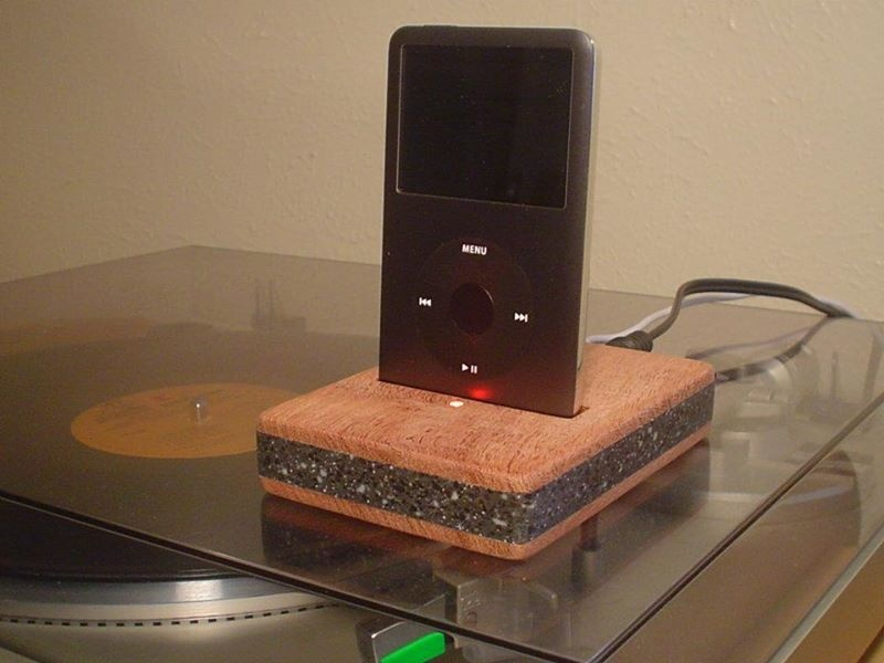 iPod Classic Dock Mesquite and Corian