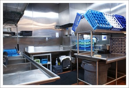 Restaurant dishwashing station