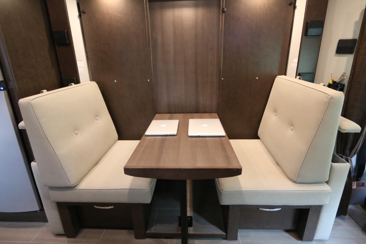 Unity Front Area                          Couch configured into Dinette