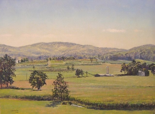 39. View at Thurmont, MD, 18x24 oil on canvas
