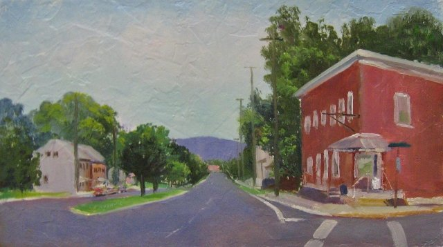 67. Hagerstown , E Wilson & Pope Ave. 7x12 oil on panel
