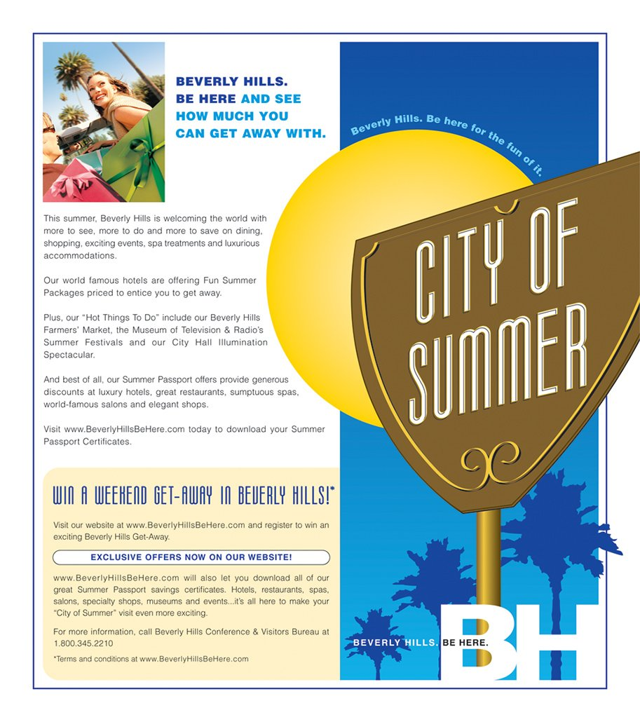 Beverly Hills, City of Summer promotion
