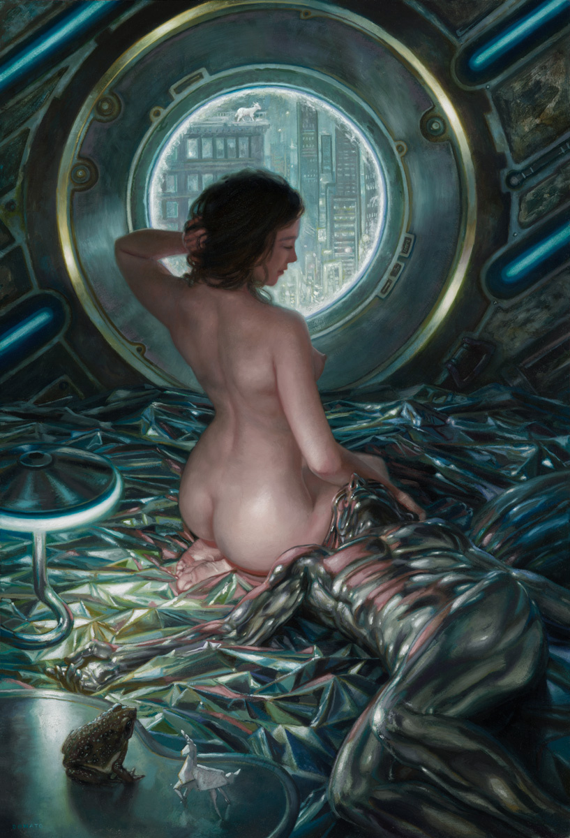 "Do Androids Dream of Electric Sheep: Rachael 26"" x 18""  Oil on Panel 209 collection of Malcolm Bourne"