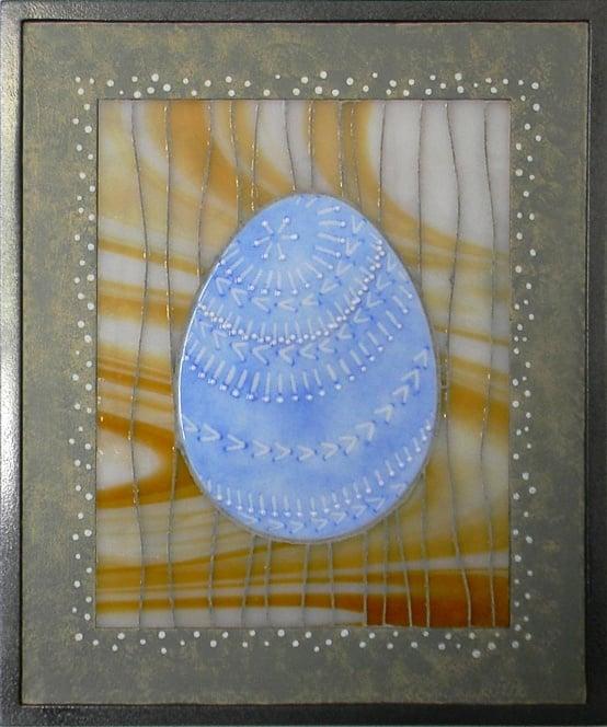 """Easter Egg"" by Nataliya Guchenia Glass Size - 10""H X 8""W $175.00"