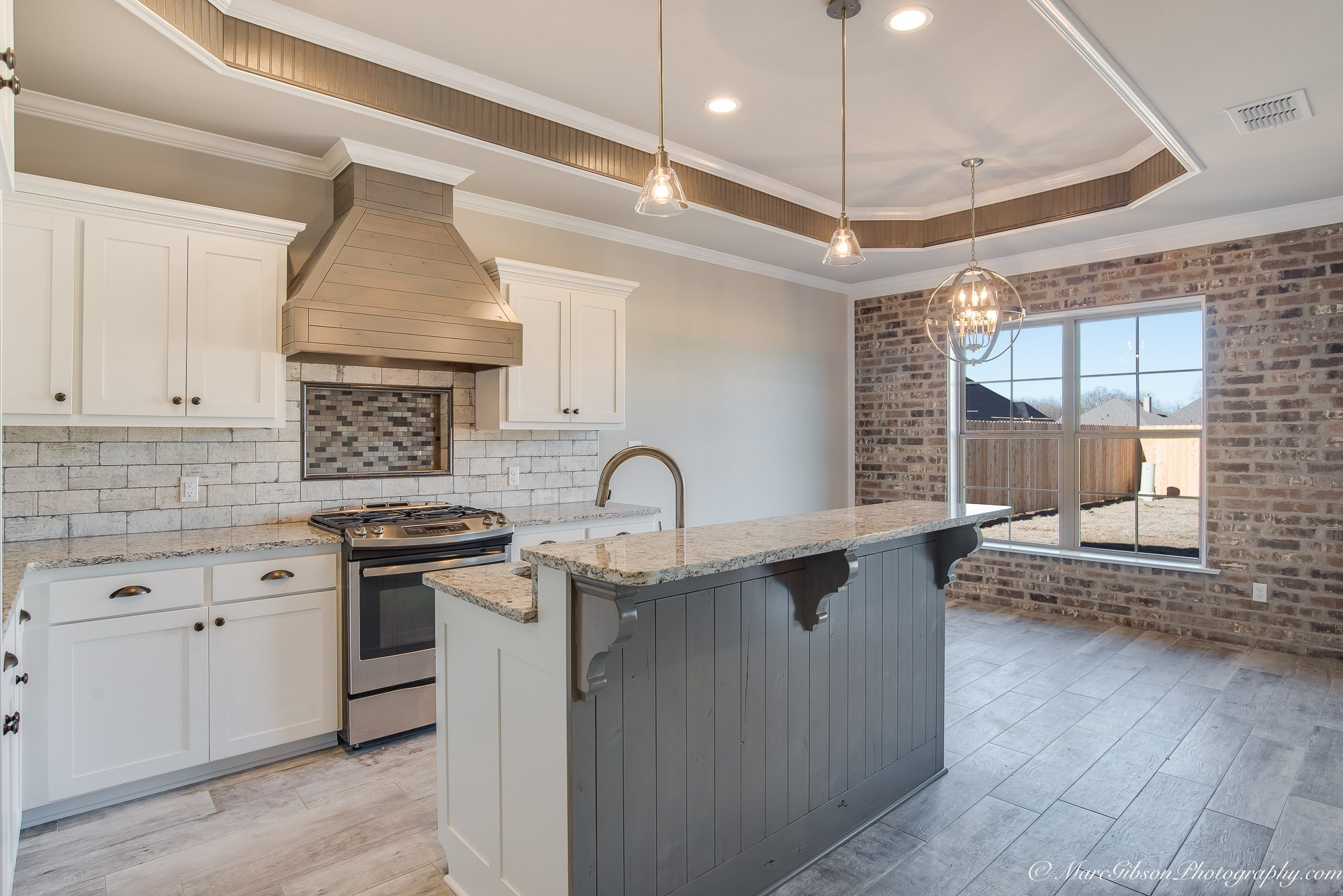 Gray and Brown Kitchen