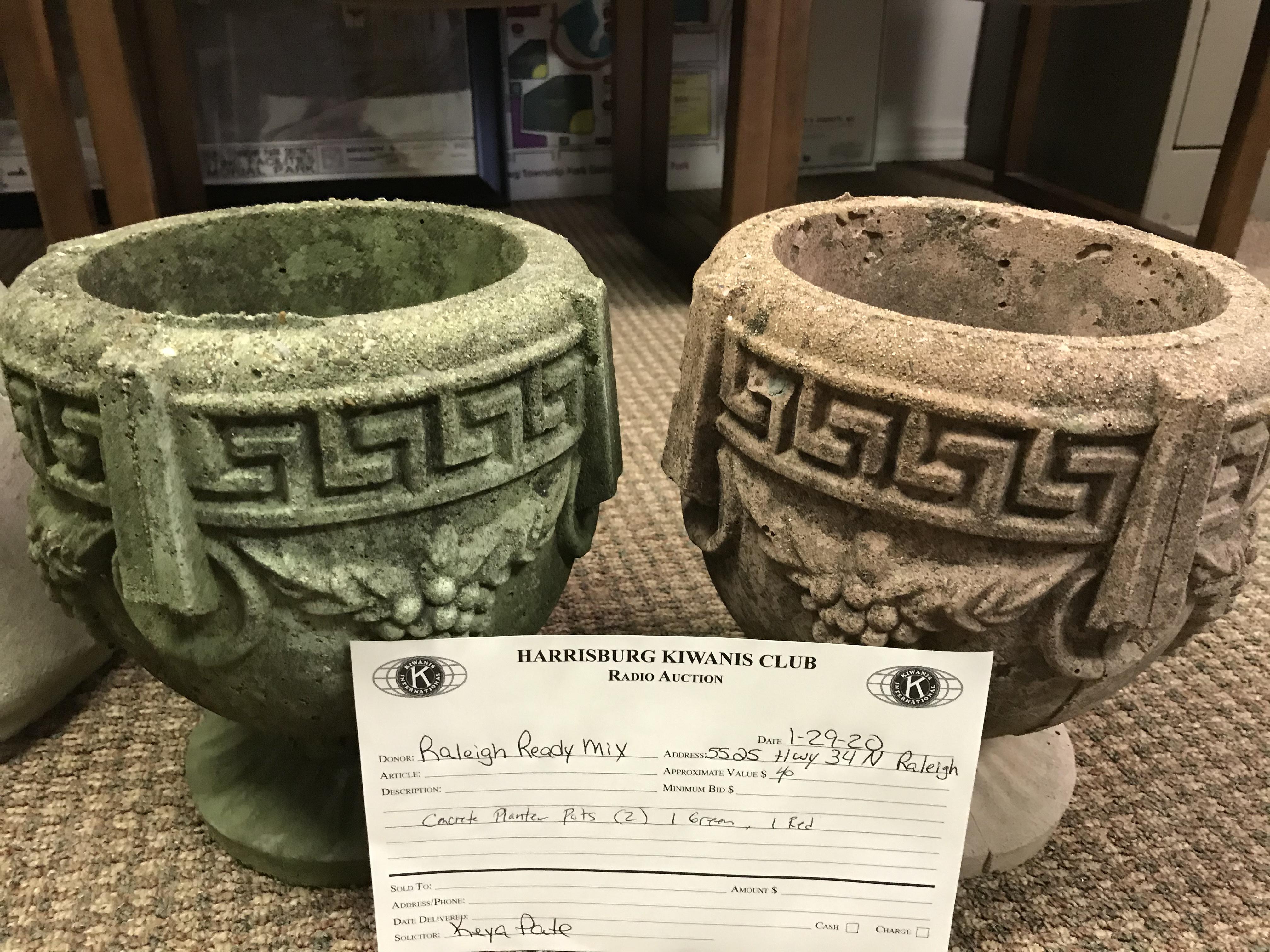 Item 339 - Raleigh Ready Mix 2 Planter Pots