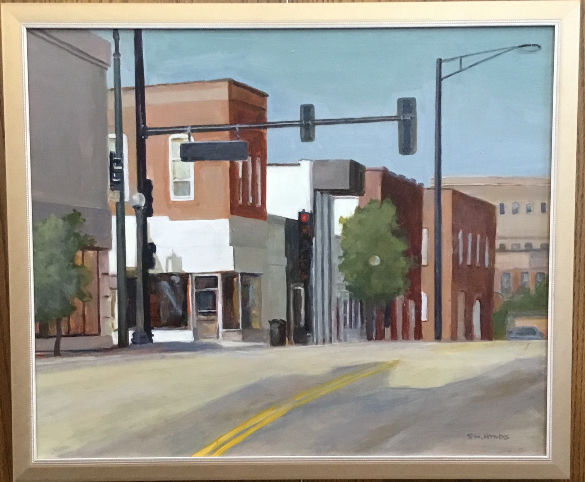 "Cross Streets Oil on Panel 17"" x 21"" $400. SOLD"