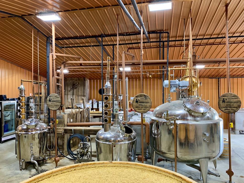 Pot Stills for Triple Distillation - Neeley Family Distillery