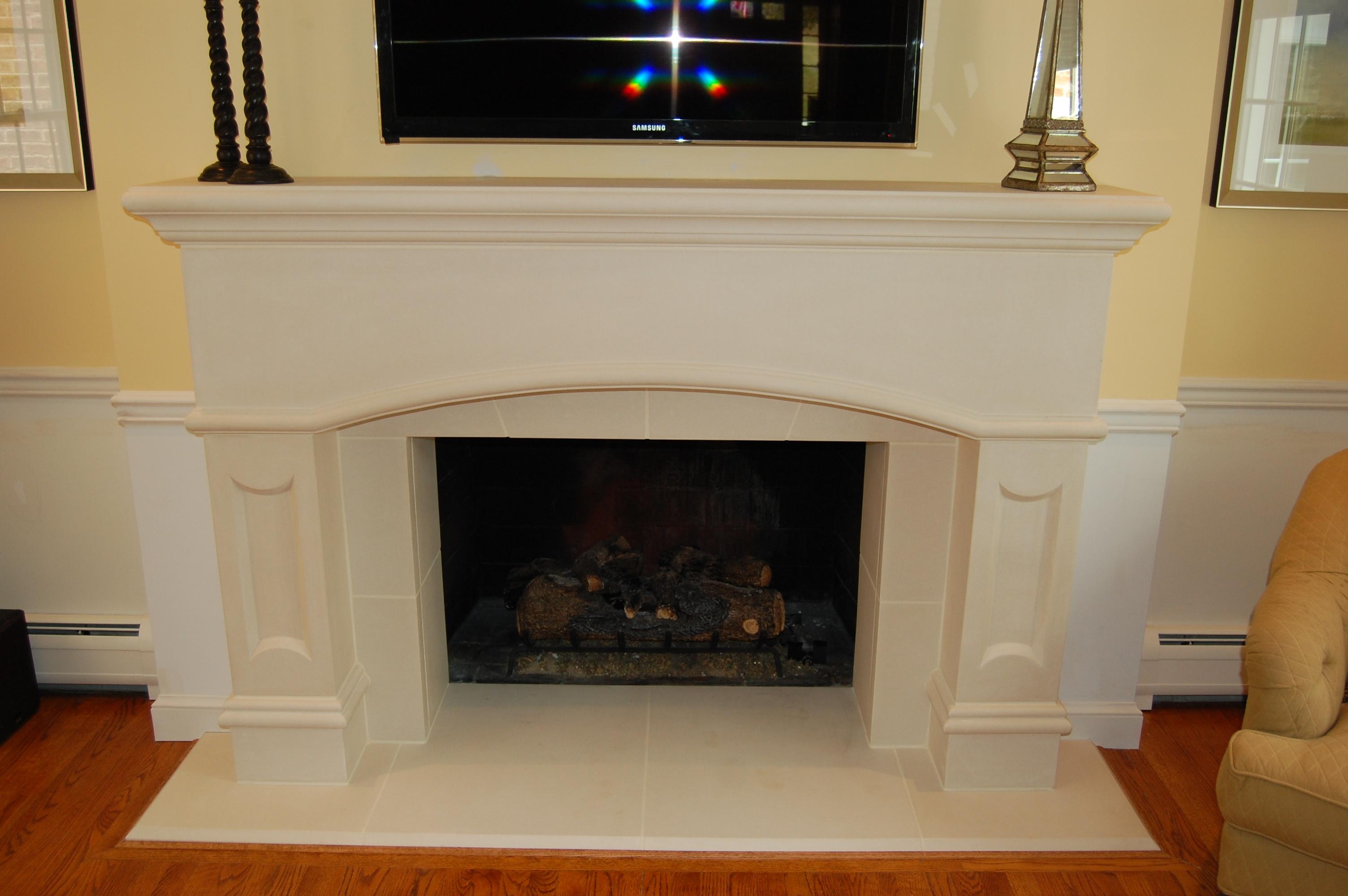 fireplace renovation after A