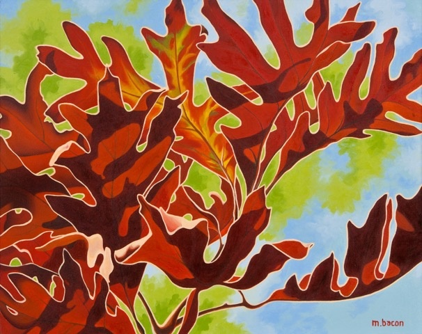 """Rustling Oak Leaves"" 24 x 30"