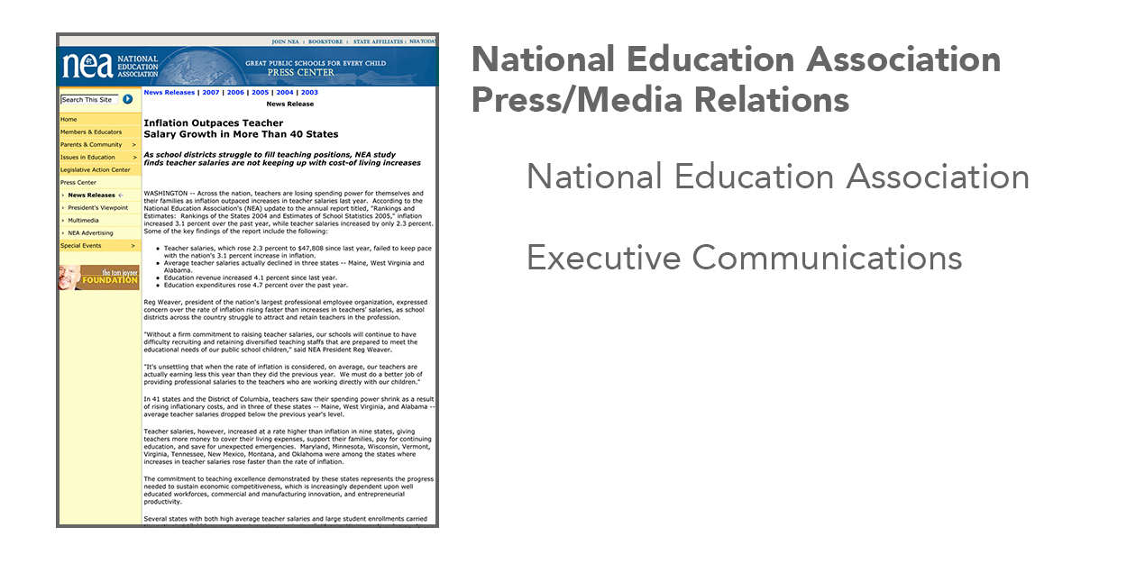National Education Association Press/Media Relations