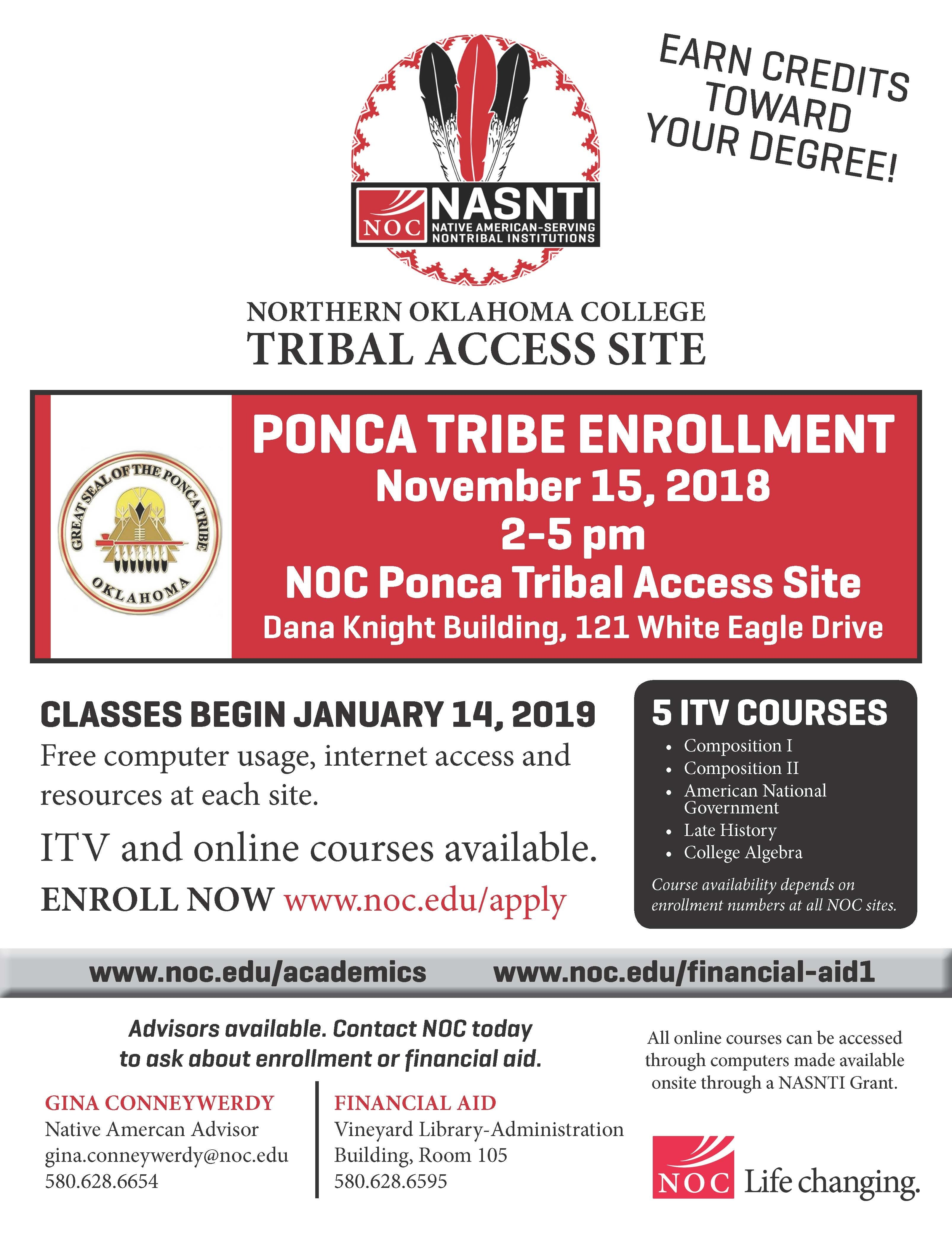 Enrollment with the Ponca Tribal Access Site NOC begins soon!