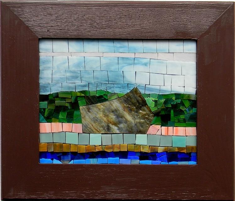 """""""Stillnes"""" by Nataliya Guchenia Glass Size - 8""""H X 9 1/2""""W $200.00"""
