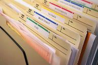 Stack of tax files