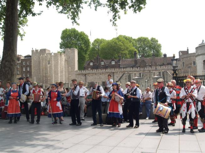 Whitethorn band at the Tower of London