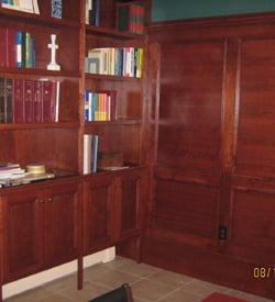 Cherrywood Raised Panel Conference Room Bookcase