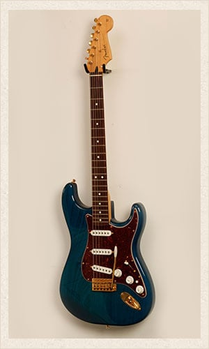 Blue Fender Electric Guitar