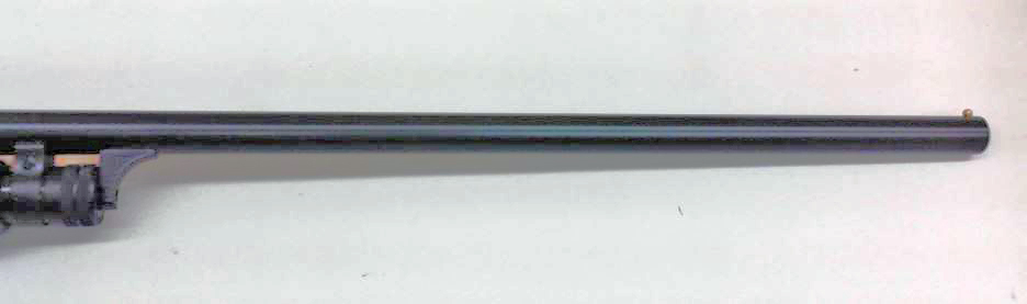 Ithaca model 37 barrel cerakoted with graphite black.