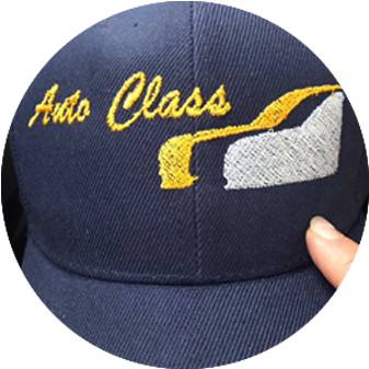 Embroidered Company Name on a Cap