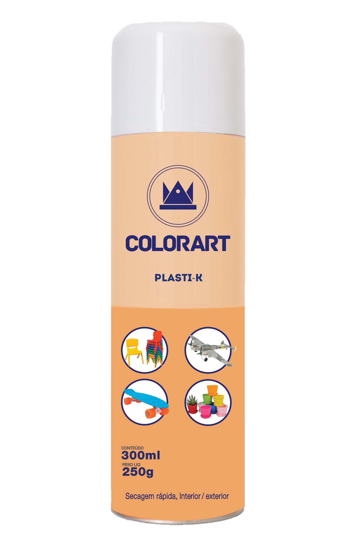 SPRAY PLASTIK COLORART PRETO E BRANCO