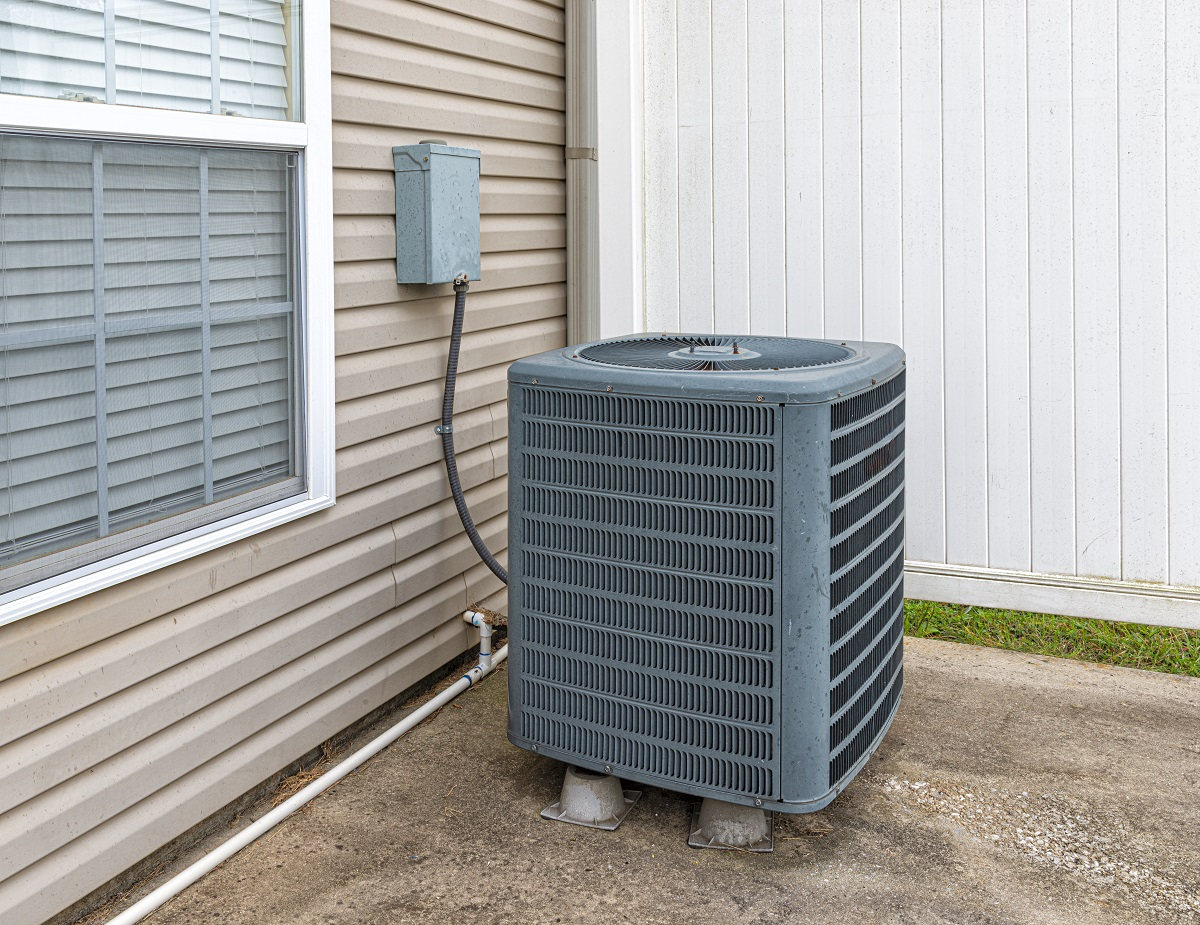 Gray Outside AC Unit