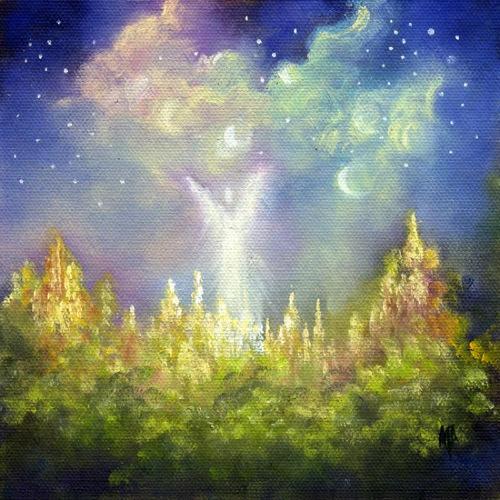 "Heaven's Little Angel ~ 6""x6""  Oil on canvas panel     SOLD"