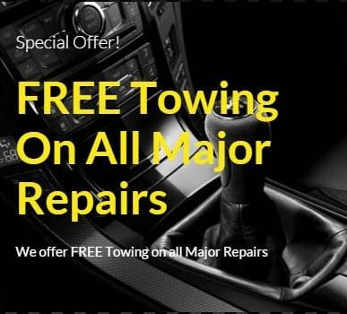 FREE Towing On All Major Repairs