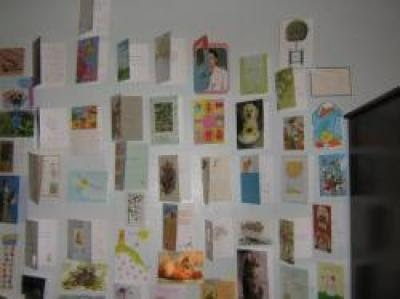 """Cards of Hope"" on my wall at  Woodbine Rehabilitation  Center- 2009"
