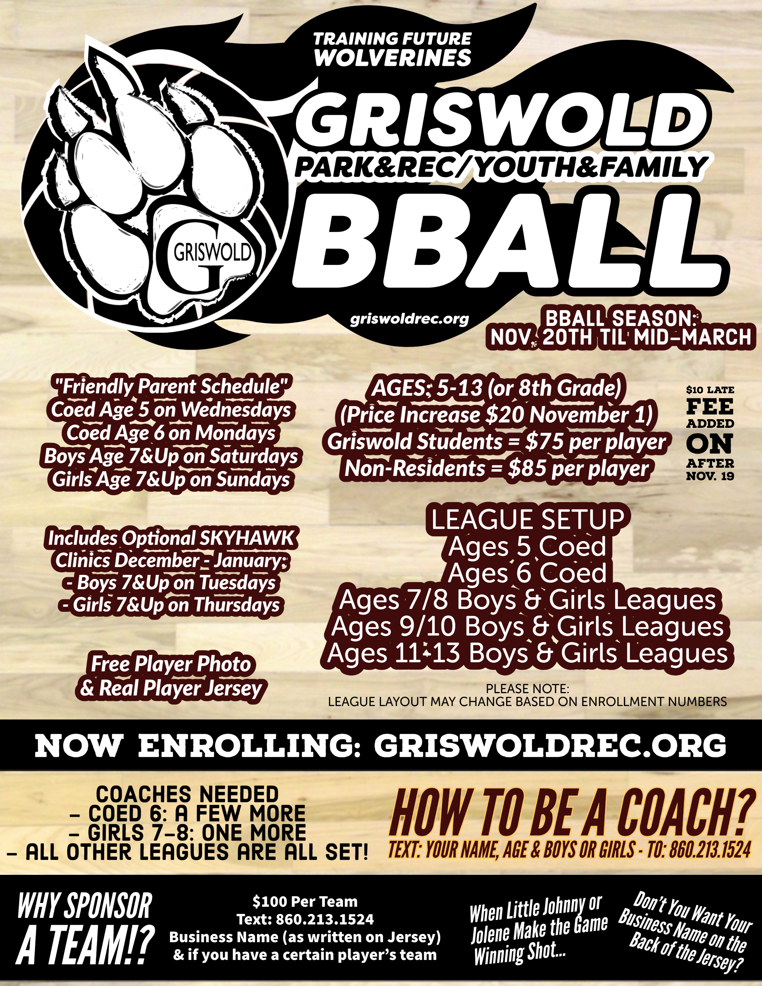 Griswold Youth Basketball (click to learn more)