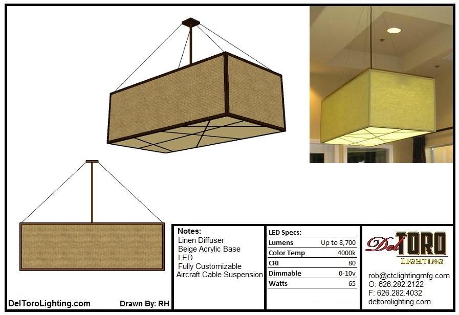 110P-Linen Box Pendant