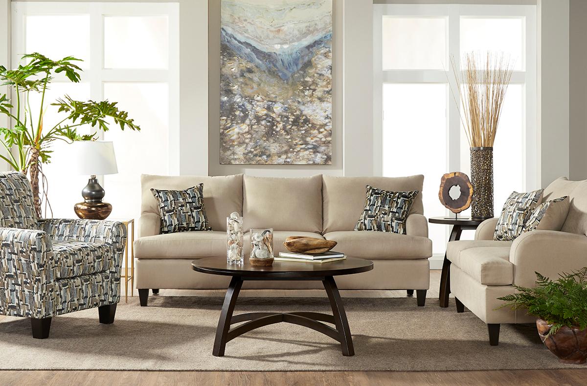 Serta 11300 Image Lambskin Sofa and Love Seat