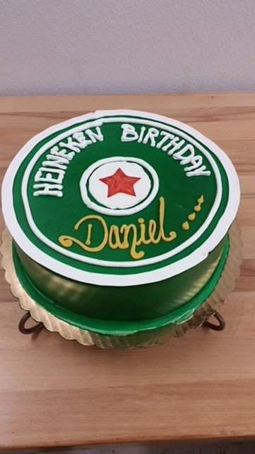 Heineken Birthday Cake