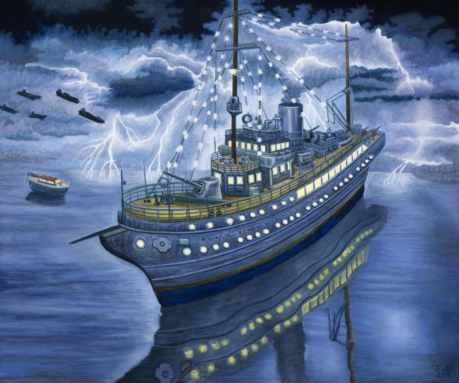 Aviso Grille (Hitler's Ship)   24 X 30 Original Oil          $3500           2009