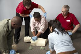 Students in Red Cross Standard First Aid and CPR Training