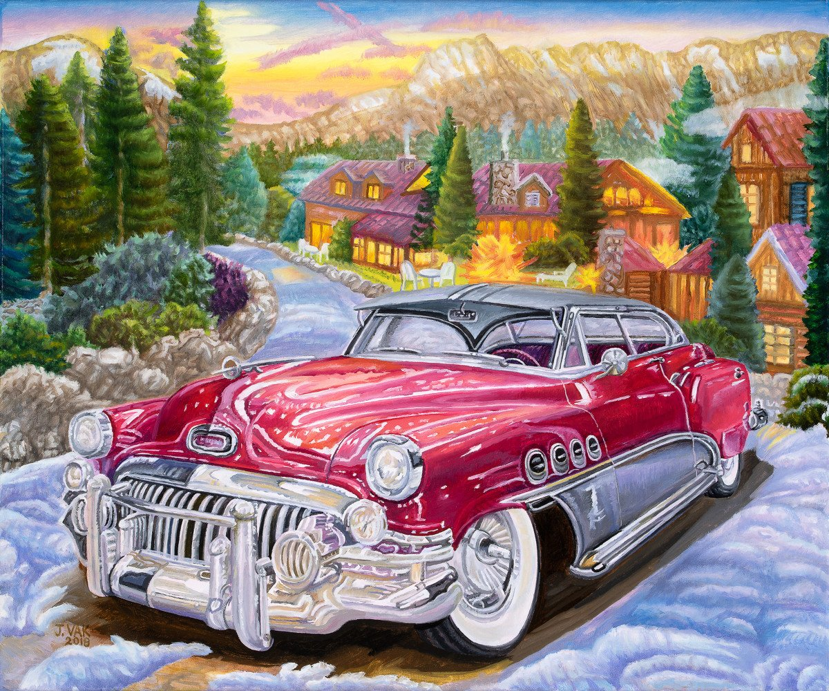 1952 Buick Roadmaster 20 X 24 Original Oil           $2500           2018