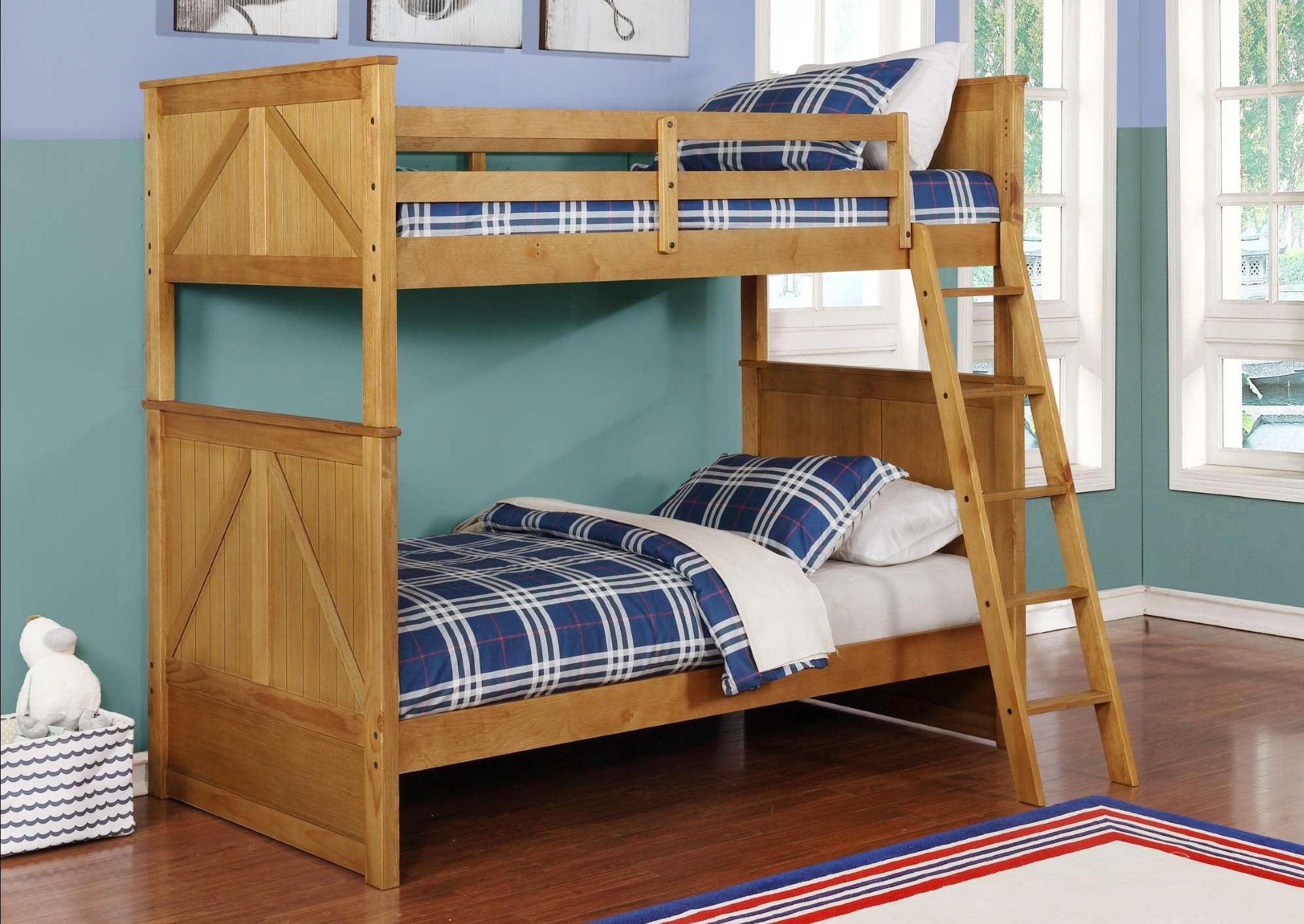 BED45485 Walnut Bunk Bed