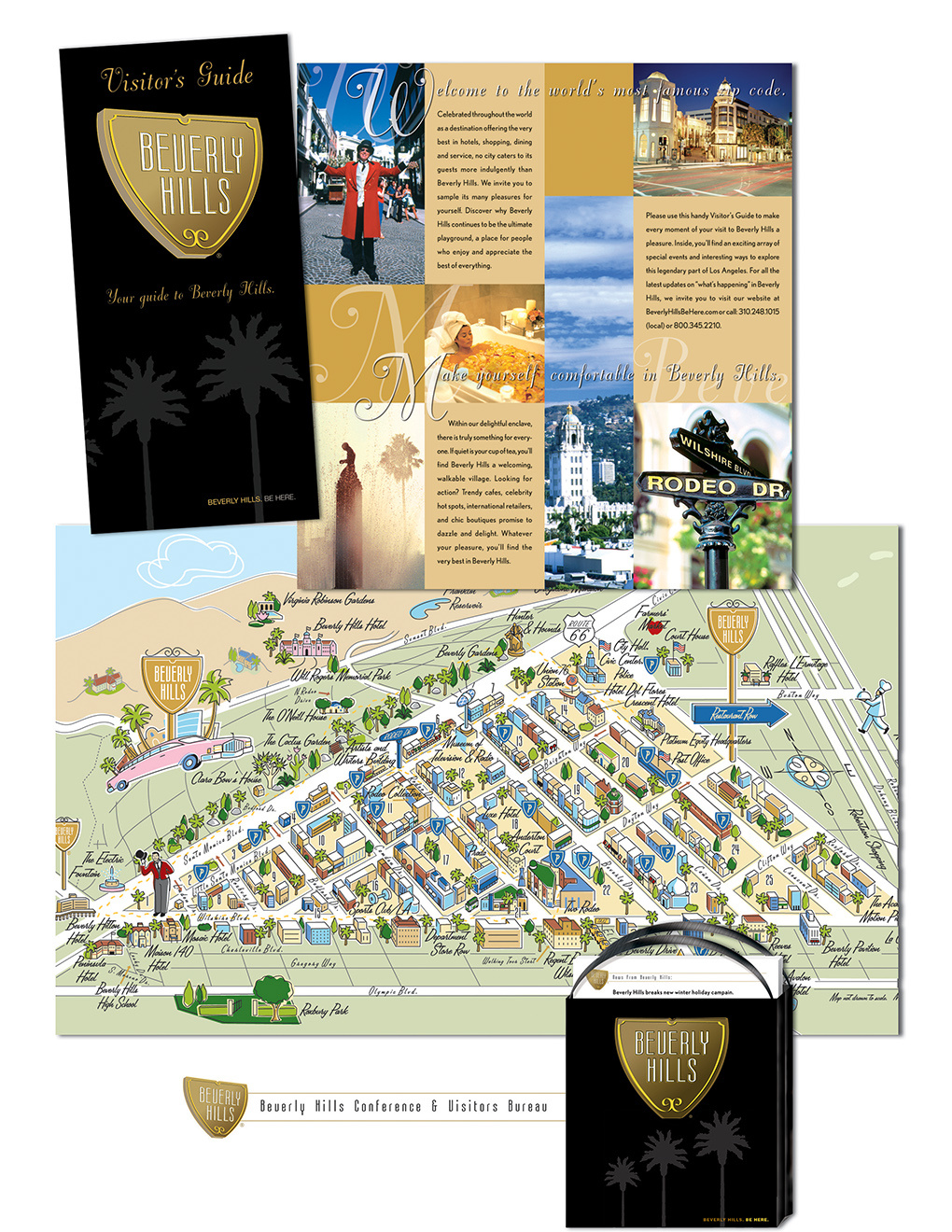 Beverly Hills Walking Tour Brochure & Map