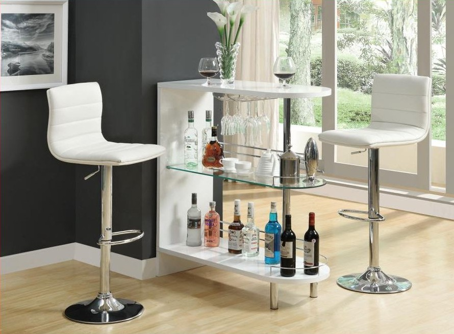 Bar unit. (Also available in Black) Price: $249.00 (Bar stools not included)