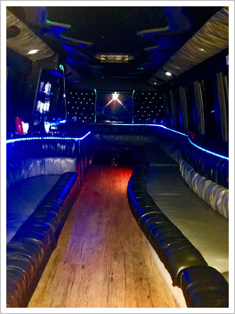 Black Limousine Bus Interior