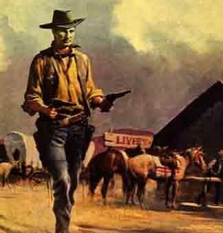 Gunslinger holding a pistol