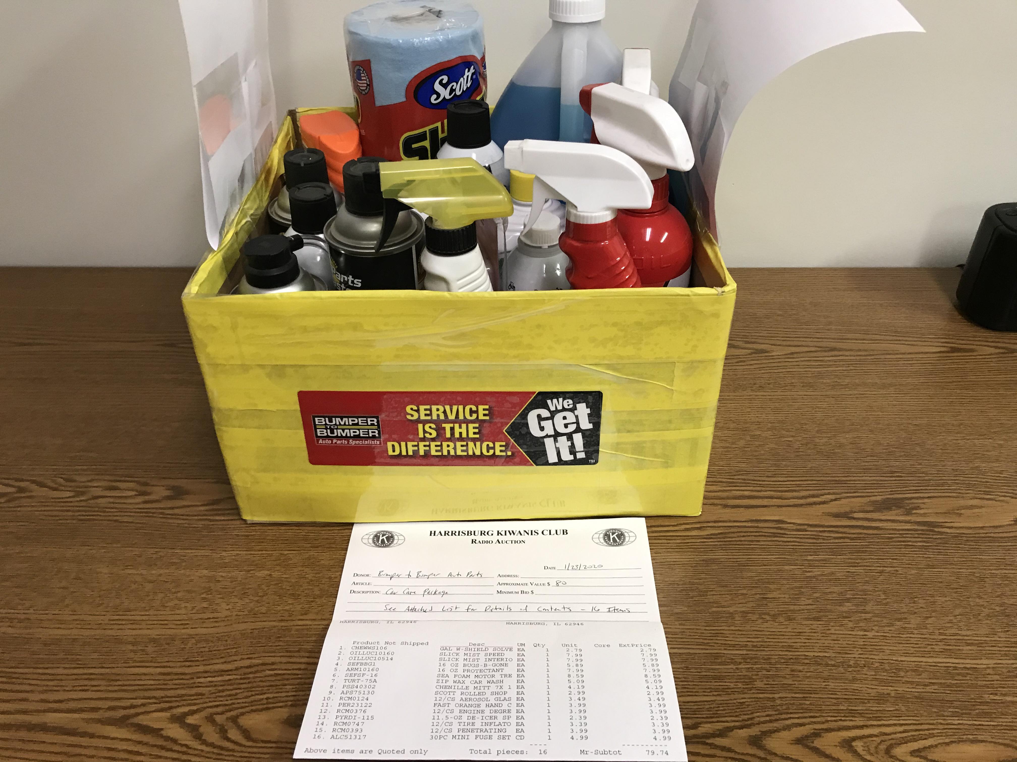 Item 234 - Bumper to Bumper Auto Parts Car Care Kit - 16 Pieces