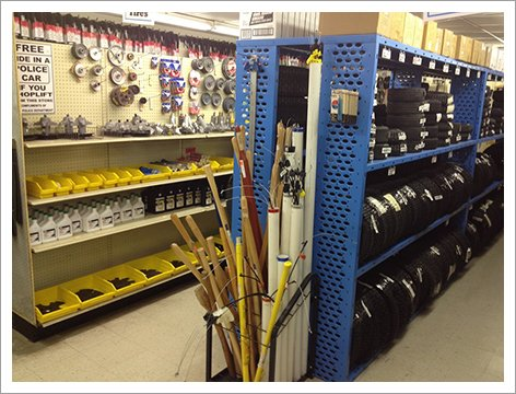 Hardware supplies in the shop||||