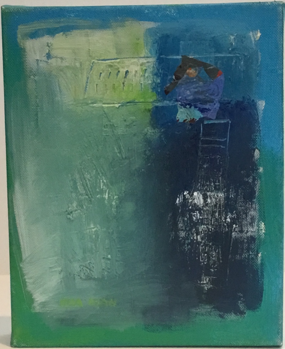 "Blue Wind acrylic on canvas 10"" X 8"" $150."